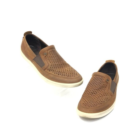 ECCO  Slip On Sneakers Loafers Perforated Shoes